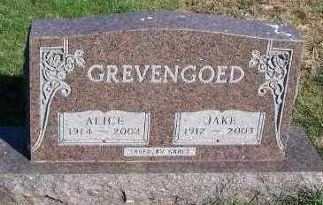 GREVENGOED, ALICE - Sioux County, Iowa | ALICE GREVENGOED