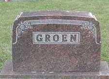 GROEN, HEADSTONE - Sioux County, Iowa | HEADSTONE GROEN