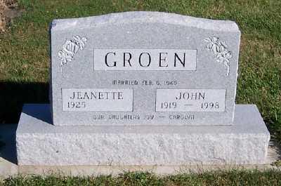 GROEN, JOHN - Sioux County, Iowa | JOHN GROEN