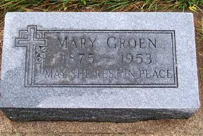 GROEN, MARY - Sioux County, Iowa | MARY GROEN