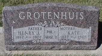GROTENHUIS, KATE (MRS. HENRY J.) - Sioux County, Iowa | KATE (MRS. HENRY J.) GROTENHUIS
