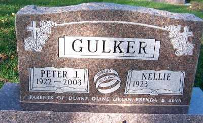 GULKER, PETER J. - Sioux County, Iowa   PETER J. GULKER