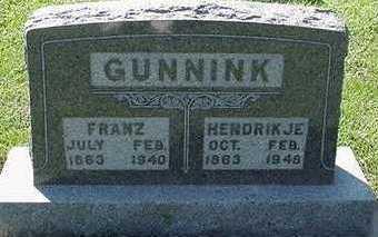 GUNNINK, FRANZ - Sioux County, Iowa   FRANZ GUNNINK