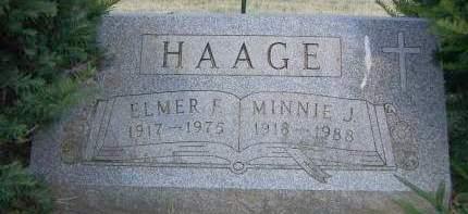 HAAGE, MINNIE J. - Sioux County, Iowa | MINNIE J. HAAGE