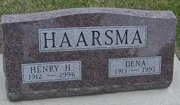 HAARSMA, DENA (MRS. HENRY H.) - Sioux County, Iowa   DENA (MRS. HENRY H.) HAARSMA