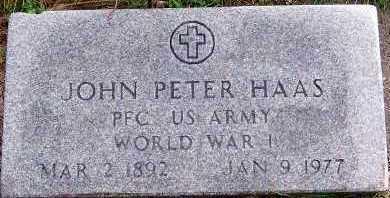 HAAS, JOHN PETER - Sioux County, Iowa   JOHN PETER HAAS