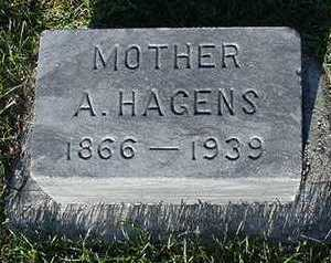 HAGENS, A. (MOTHER) - Sioux County, Iowa | A. (MOTHER) HAGENS