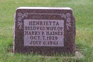 HAINES, HENRIETTA (MRS. HARRY P.) - Sioux County, Iowa | HENRIETTA (MRS. HARRY P.) HAINES