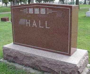 HALL, HEADSTONE - Sioux County, Iowa | HEADSTONE HALL