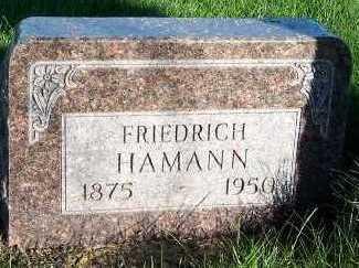HAMANN, FRIEDRICH - Sioux County, Iowa | FRIEDRICH HAMANN