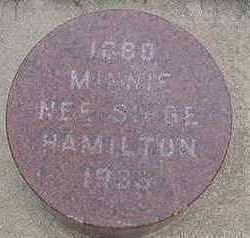 HAMILTON, MINNIE - Sioux County, Iowa | MINNIE HAMILTON