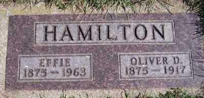 HAMILTON, OLIVER D. - Sioux County, Iowa | OLIVER D. HAMILTON