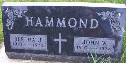 HAMMOND, BERTHA J. - Sioux County, Iowa | BERTHA J. HAMMOND