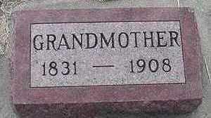HANEMAAYER, GRANDMOTHER - Sioux County, Iowa | GRANDMOTHER HANEMAAYER