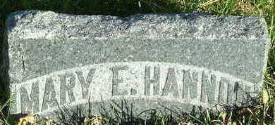 HANNON, MARY E. - Sioux County, Iowa | MARY E. HANNON