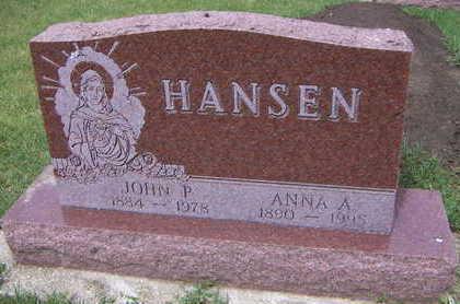 HANSEN, JOHN P. - Sioux County, Iowa   JOHN P. HANSEN