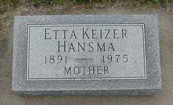 HANSMA, ETTA - Sioux County, Iowa | ETTA HANSMA