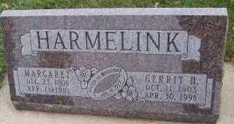 HARMELINK, MARGARET - Sioux County, Iowa | MARGARET HARMELINK