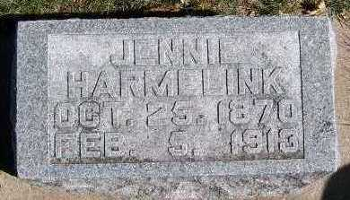 VANDEBRAKE HARMELINK, JENNIE (MRS. JOHN) - Sioux County, Iowa | JENNIE (MRS. JOHN) VANDEBRAKE HARMELINK