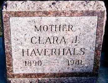 HAVERHALS, CLARA J. - Sioux County, Iowa | CLARA J. HAVERHALS
