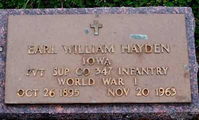 HAYDEN, EARL WILLIAM - Sioux County, Iowa | EARL WILLIAM HAYDEN