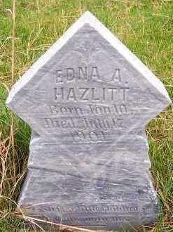 HAZLITT, EDNA A. - Sioux County, Iowa | EDNA A. HAZLITT