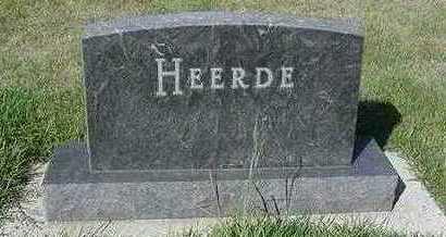 HEERDE, HEADSTONE - Sioux County, Iowa | HEADSTONE HEERDE
