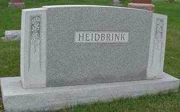 HEIDBRINK, HEADSTONE - Sioux County, Iowa | HEADSTONE HEIDBRINK