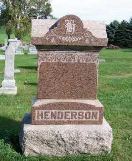 HENDERSON, HEADSTONE - Sioux County, Iowa | HEADSTONE HENDERSON