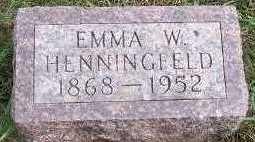 HENNINGFELD, EMMA W. - Sioux County, Iowa | EMMA W. HENNINGFELD