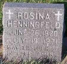 HENNINGFELD, ROSINA - Sioux County, Iowa   ROSINA HENNINGFELD