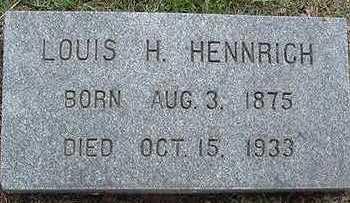 HENNRICH, LOUIS H. - Sioux County, Iowa | LOUIS H. HENNRICH