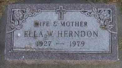 HERNDON, ELLA W. - Sioux County, Iowa | ELLA W. HERNDON