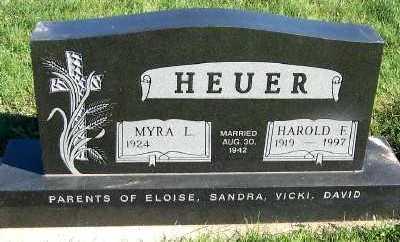 HEUER, HAROLD F. - Sioux County, Iowa   HAROLD F. HEUER