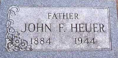 HEUER, JOHN F. - Sioux County, Iowa   JOHN F. HEUER