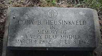 HEUSINKVELD, COBA B. - Sioux County, Iowa | COBA B. HEUSINKVELD