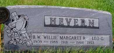 HEVERN, B. W. (WILLIE) - Sioux County, Iowa | B. W. (WILLIE) HEVERN