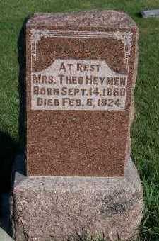 HEYMEN, MRS. THEO - Sioux County, Iowa | MRS. THEO HEYMEN