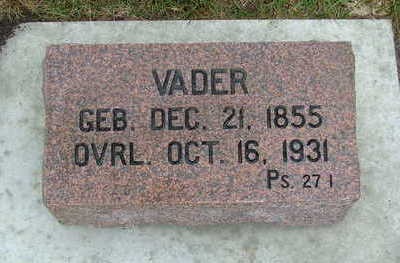 HIBMA, VADER (FATHER) - Sioux County, Iowa | VADER (FATHER) HIBMA