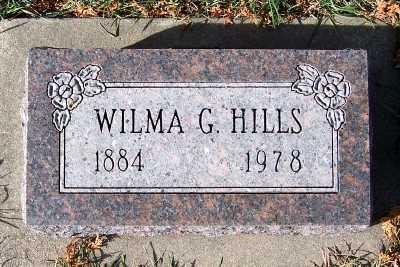 HILLS, WILMA G. - Sioux County, Iowa   WILMA G. HILLS