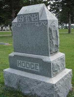 HODGE, HEADSTONE - Sioux County, Iowa | HEADSTONE HODGE