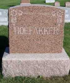 HOEFAKKER, HEADSTONE - Sioux County, Iowa | HEADSTONE HOEFAKKER