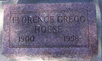 GREGG HOESE, FLORENCE - Sioux County, Iowa | FLORENCE GREGG HOESE