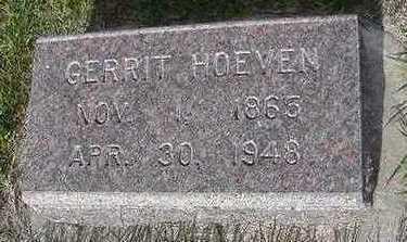 HOEVEN, GERRIT - Sioux County, Iowa   GERRIT HOEVEN