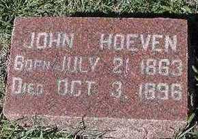 HOEVEN, JOHN - Sioux County, Iowa | JOHN HOEVEN