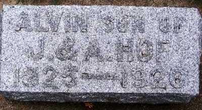 HOF, ALVIN (1925-1926) - Sioux County, Iowa   ALVIN (1925-1926) HOF
