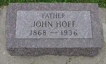 HOFF, JOHN - Sioux County, Iowa   JOHN HOFF