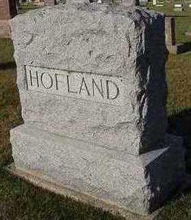 HOFLAND, HEADSTONE - Sioux County, Iowa   HEADSTONE HOFLAND