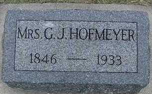 HOFMEYER, G. J. MRS. - Sioux County, Iowa | G. J. MRS. HOFMEYER