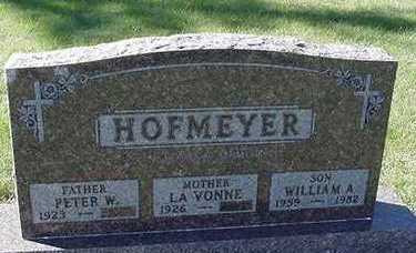 HOFMEYER, WILLIAM A. - Sioux County, Iowa | WILLIAM A. HOFMEYER